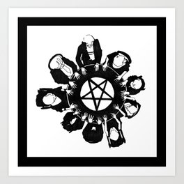 The night they summoned the demon R.H.L. Art Print