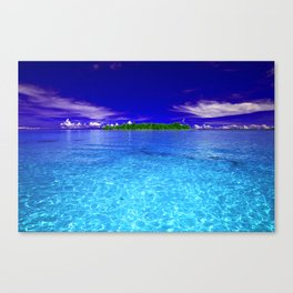 Shimmering Tropical Caribbean Island Waters Canvas Print
