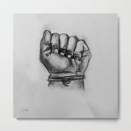 Make A Fist! Metal Print
