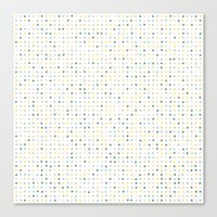 polka dot Canvas Prints featuring Polka Dot by Alisa Galitsyna