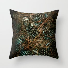 Cones and Needles Throw Pillow