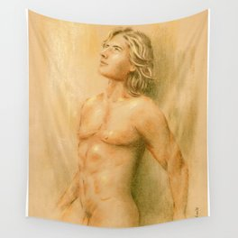 Adonis - Male Nude Wall Tapestry