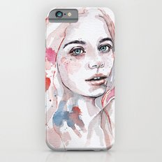Singing of passion, watercolor iPhone 6s Slim Case