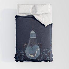 Lighten whale navy Comforters