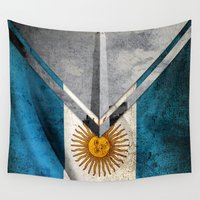 argentina Wall Tapestries featuring Flags - Argentina by Ale Ibanez