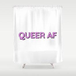QUEER AF Shower Curtain