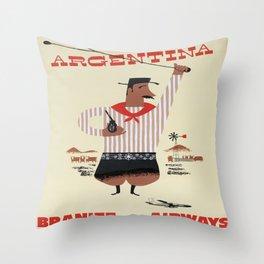 Argentinian Matador Throw Pillow