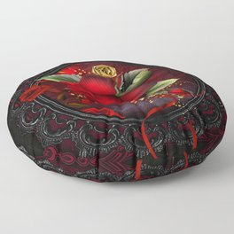 Rose Red Floor Pillow