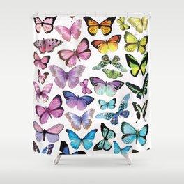 Butterfly Rainbow Shower Curtain