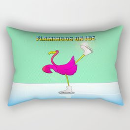 Flamingos on ice Rectangular Pillow