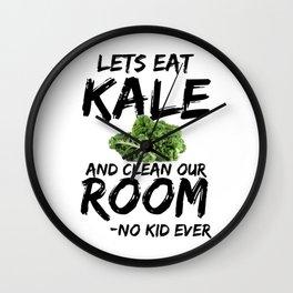 Kale Art for Kids, Vegans and Vegetarians on Diet Light Wall Clock