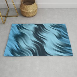 stripes wave pattern 7v2 coi Rug