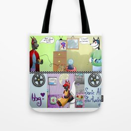Zooming With Friends Tote Bag