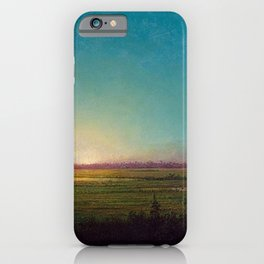 Twilight in the Florida Everglades by Martin Johnson Heade iPhone Case