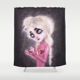 lost forever in a dark space Shower Curtain