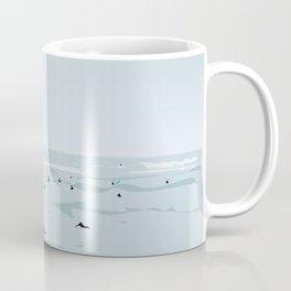 Tiny Surfers in Lima Illustrated Coffee Mug