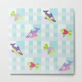Crazy Fishes Metal Print