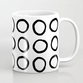 Hand Drawn Circles Black on White Coffee Mug
