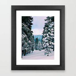 The Lake Beyond The Snow Framed Art Print
