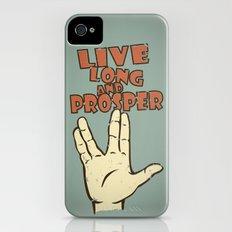LIVE LONG AND PROSPER! - Star Trek iPhone (4, 4s) Slim Case