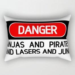 Danger: Ninjas Rectangular Pillow