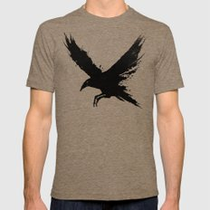 The Raven Tri-Coffee Mens Fitted Tee LARGE