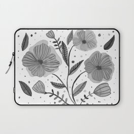 Spring flowers - black and white Laptop Sleeve