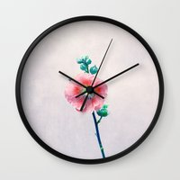 lonely Wall Clocks featuring lonely by Claudia Drossert