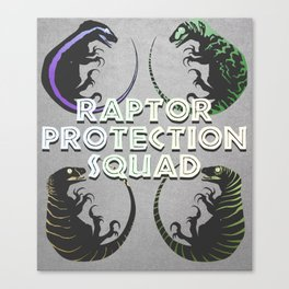 Raptor Protection Squad (Four corners) Canvas Print