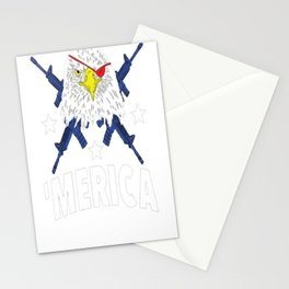 BALD EAGLE BEARING ARMS T-SHIRT Stationery Cards