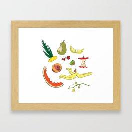 Leftover fruits - illustration Framed Art Print
