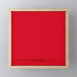 Red passion Framed Mini Art Print