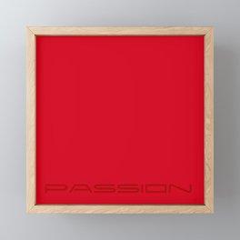 Red passion Framed Mini Art Print