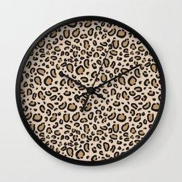 Leopard print - classic cheetah print, animal print Wall Clock