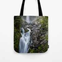 waterfall Tote Bags featuring Waterfall. by Michelle McConnell
