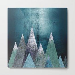 Mountains - grunge style Metal Print