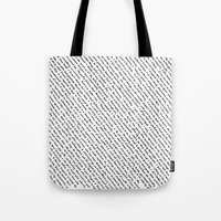 literary Tote Bags featuring Literary Quotes by Abstract Graph Designs