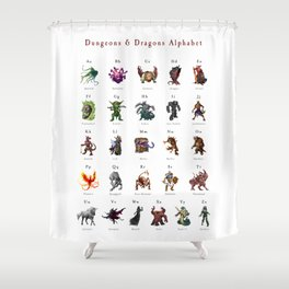 Monster Alphabet Shower Curtain