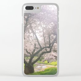 Spring cherry blossom Clear iPhone Case