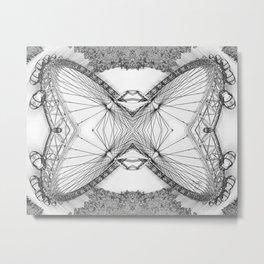 An Intramagnautical London Butterfly Metal Print
