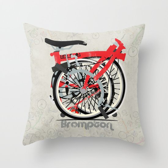 Brompton Bike Throw Pillow