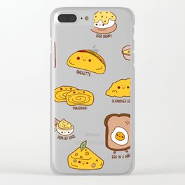 Get eggy with it Clear iPhone Case
