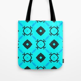 Light Blue Behind Dark Diamonds Tote Bag