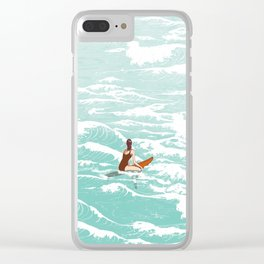 Out on the waves Clear iPhone Case