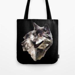 Grey Wolf Tote Bag