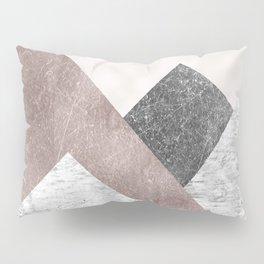 Rose grunge - mountains Pillow Sham