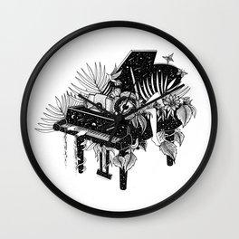 Piano, Melody of life Wall Clock