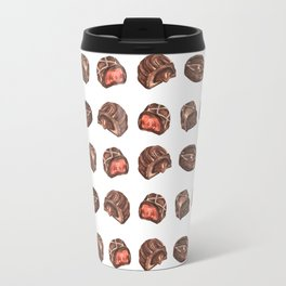 Watercolor Chocolate Truffles Travel Mug