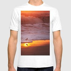 Sunny Sandpiper White MEDIUM Mens Fitted Tee