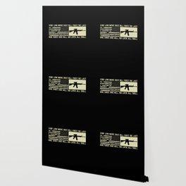 M4 Assault Rifle & Tactical Flag Wallpaper